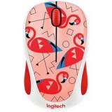Mouse logitech m238 party collection flamingo wireless