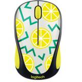 Mouse logitech m238 party collection lemon wireless