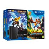 Consola sony ps4 1TB negra + crash bandicoot + ratchet