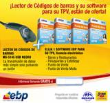 Bundle lector codiogos barras ms5145 USB negro + software tpv ebp