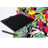 Tableta digitalizadora wacom cth-490ck-s especial comic pen & touch small,  negro
