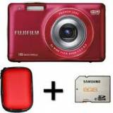 Kit cámara digital fujifilm finepix jx550 rojo
