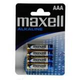 Blister maxell cuatro 4 pilas alcalinas aaa lr-03