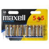 Blister maxell 5+5 pilas alcalinas aa lr-06