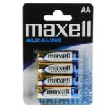 Blister maxell cuatro pilas alcalinas aa lr-06