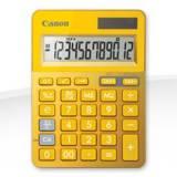 Calculadora canon sobremesa ls-123k amarilla