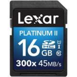 Tarjeta memoria secure digital sd uhs-1 16GB lexar platinum II clase 10 300x sdhc / sdxc