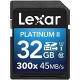 Tarjeta memoria secure digital sd uhs-1 32GB lexar platinum II clase 10 300x sdhc / sdxc