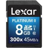 Tarjeta memoria secure digital sd uhs-1 8GB lexar platinum II clase 10 300x sdhc / sdxc