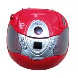 Radio cd MP3 portátil nevir nvr-474u rojo