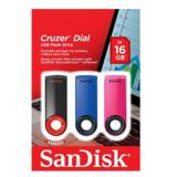 Memoria USB sandisk 16GB cruzer dial flash drive pack