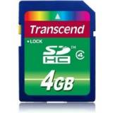 Tarjeta memoria secure digital 4GB transcend sd hc 4mb 