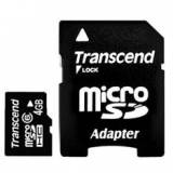 Tarjeta memoria micro secure digital sd 4GB transcend