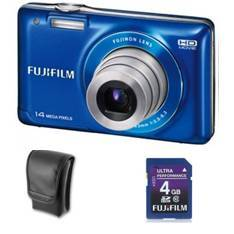 KIT CAMARA DIGITAL FUJIFILM FINEPIX JX500 AZUL 14  ...