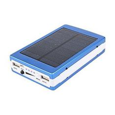 POWER BANK CARGADOR SOLAR AZUL 8000MAH
