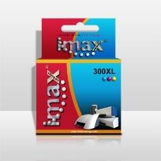 Cartucho Tinta Imax Cc644ee Nº300 Xl Tricolor Hpq Deskjet D2560 /  Serie D5500 /  Serie F2400 /  F24