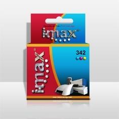 Cartucho Tinta Imax C9361e Nº342 (12ml) Tricolor Compatible Hpq Psc 1507 /  1510 /  Photosmart 2575