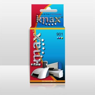 Cartucho Tinta Imax Cc656a Nº901 C Tricolor Hp J4580 /  J4585 /  J4680 /  4500aio 03902