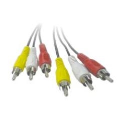 Cable Audio Y Video 3 X Rca M / m 1.2 Metros 2060069