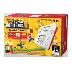 Consola Nintendo 2ds Blanco  /  Rojo  +  New Super Mario Bros 2 Preinstalado Edicion Limitada 220389