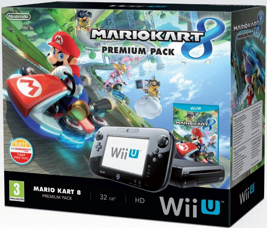 Consola Nintendo Wii U - Premium Pack  +  Mario Kart 8 (preinstalado) 2301099