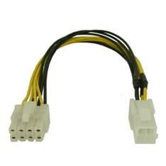 Cable Alimentacion Placa-micro 4 Pin Hembra /  8 Pin Macho 4MA8H