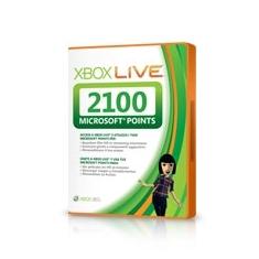 Accesorio Xbox 360 - Tarjeta 2100 Puntos 56P-00209