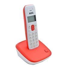 Telefono Inalambrico Dect Aeg Voxtel D-100 Display Lcd, Blanco Y Rojo 8073780042
