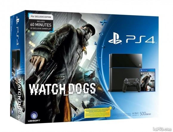 CONSOLA PS4 500GB + WATCH DOGS