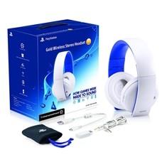 ACCESORIOS PS4/ PS3/ PC/ PSVITA AURICULARES WIRELESS STEREO HEADSET 2.0 BLANCOS  CON MICROFONO