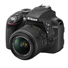Kit Camara Digital Reflex Nikon D3300 Negro 24.2mp  Afs Dx18-55g No Vr /  Afs Dx 55-200g Vr  +  Moch