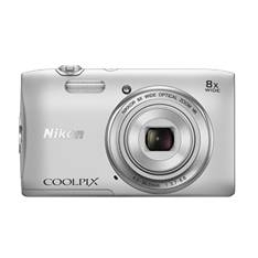 Kit Camara Digital Nikon Coolpix S3600 Plata 20.1mp Zo 8x Hd Lcd 2.7 Pulgadas Litio  +  Estuche 999S