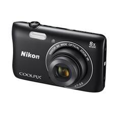 Kit Camara Digital Nikon Coolpix S3700 Negro 20mp Zo 8x Hd Lcd 2.7 Pulgadas Litio Wifi Nfc   +  Estu