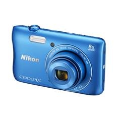 Kit Camara Digital Nikon Coolpix S3700 Azul 20mp Zo 8x Hd Lcd 2.7 Pulgadas Litio Wifi Nfc   +  Estuc