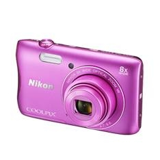 Kit Camara Digital Nikon Coolpix S3700 Rosa 20mp Zo 8x Hd Lcd 2.7 Pulgadas Litio Wifi Nfc   +  Estuc