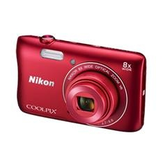 Kit Camara Digital Nikon Coolpix S3700 Rojo 20mp Zo 8x Hd Lcd 2.7 Pulgadas Litio Wifi Nfc   +  Estuc