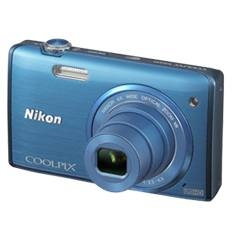 "KIT CAMARA DIGITAL NIKON COOLPIX S5200 AZUL 16 MP LITIO ZO 6X  HD 3D LCD 3"" WIFI + ESTUCHE + 5 AÑOS"