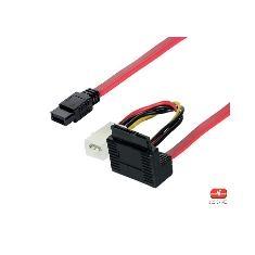 Cable Interno Sata 7p De Datos Y Alimentación 0.50m AK3397