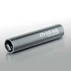Bateria Externa Power Bank 2600 Mah Para Moviles Smartphone Y Tablet  Plateado Ovislink ARGON2600S