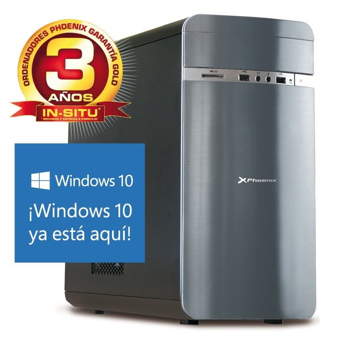 Ordenador Phoenix Casia Intel Core I7, Vga G-force 740 2gb Ddr5,12gb Ddr3 1600, 1tb, Rw, W10 CASIAI7