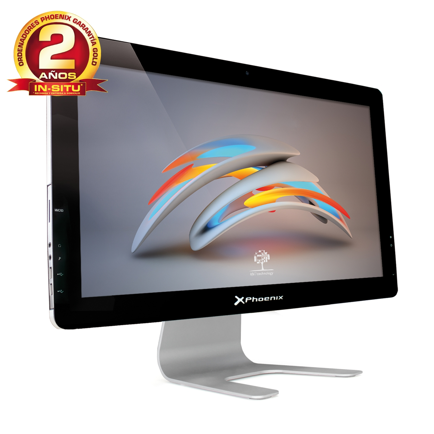 "ORDENADOR SOBREMESA PHOENIX ALL IN ONE CONSTELLATION1 LED 21.5"" WIFI  INTEL I3 DDR3 4GB 500GB RW"