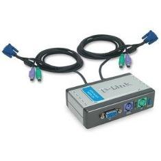 Data Swich D-link Kvm 2 Pc Monitor Teclado Raton Con Calbes DKVM-2K