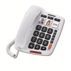 Telefono Sobremesa Daewoo Dtc-760  /  Manos Libres  /  Teclas Grandes  /  Blanco DTC-760