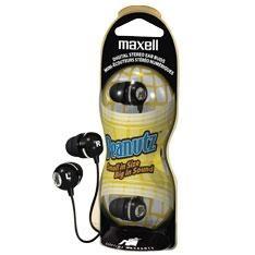 Auricular Maxell Eb-412 Peanutz Negro, Doble Capa De Silicona EB412