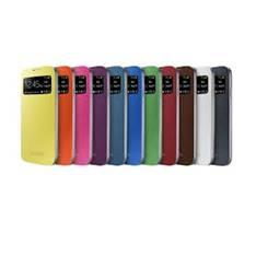 Funda Flip Cover Con Pantalla Frontal Para Smartphone Samsung Galaxy S4 Rosa EF-CI950BPEGWW