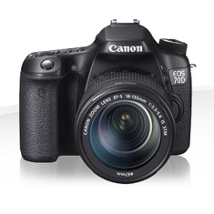 Camara Digital Reflex Canon Eos 70d 18-55mm Is Stm /  Cmos /  20.2mp /  Digic 5 /  19 Puntos De Enfo