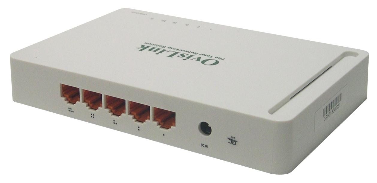 Switch  5 Puertos 9 Pulgadas 10 / 100 / 1000 Mbps Ovislink EVOGSH5