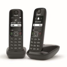 TELEFONO FIJO GIGASET AS690 DUO NEGRO