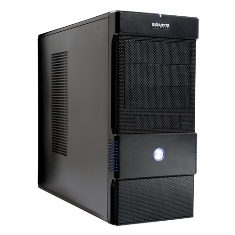 CAJA ORDENADOR SEMITORRE ATX GIGABYTE LUXO M1004  2 USB 4 BAHIAS NEGRO SIN FUENTE