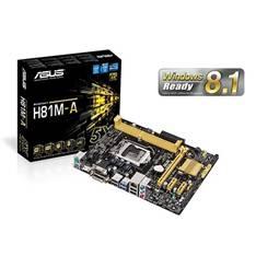Placa Base Asus Intel H81m-a Socket 1150 Ddr3x2 1600mhz 16gb Dvi-d Matx H81M-A